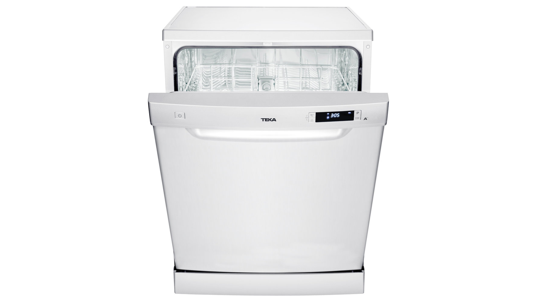 Free-standing A++ dishwasher for 12 place settings and 6 washing programs
