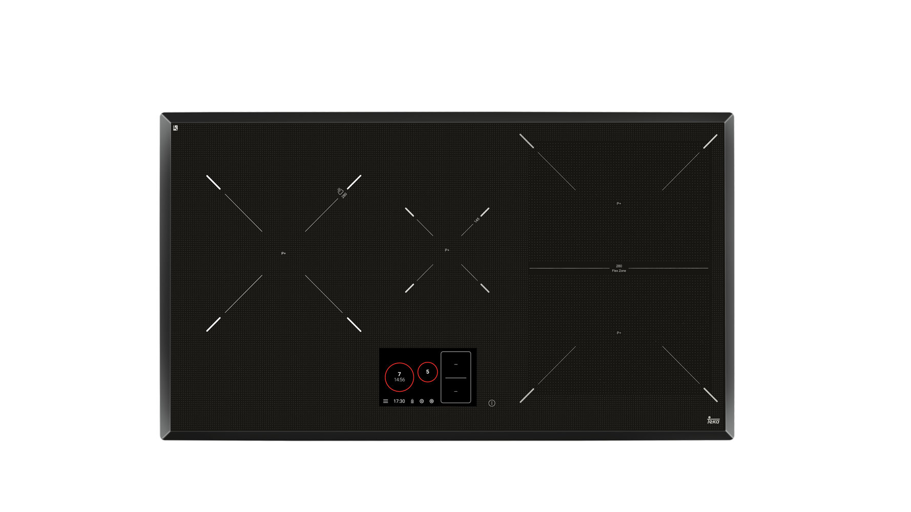 Induction hob with 4 cooking zones and touch control in 80 cm