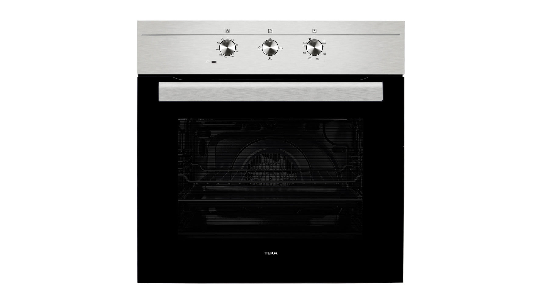 Multifunction gas oven with gas grill in 60 cm