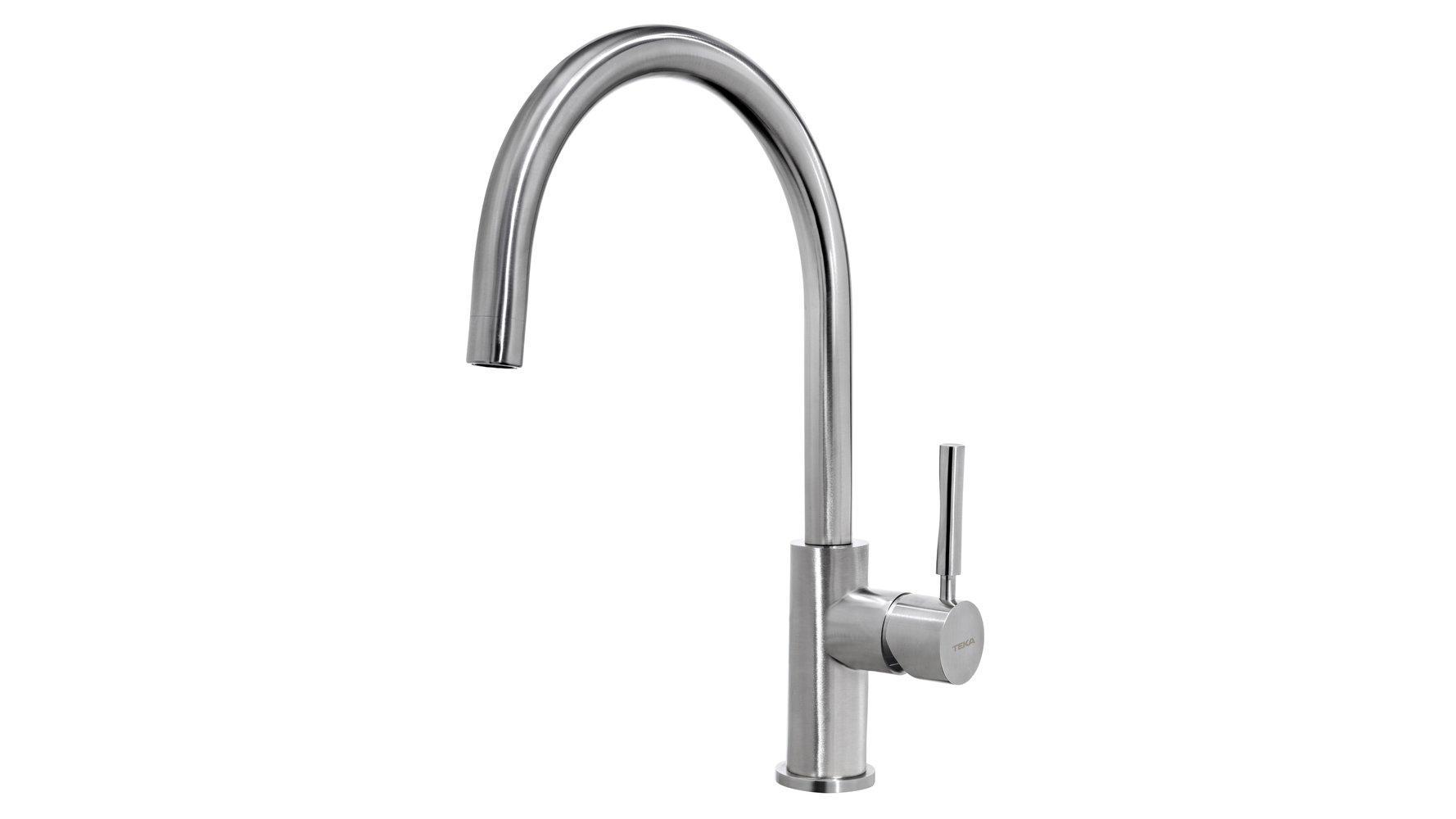 Kitchen faucet mixer with high swivel spout stainless steel