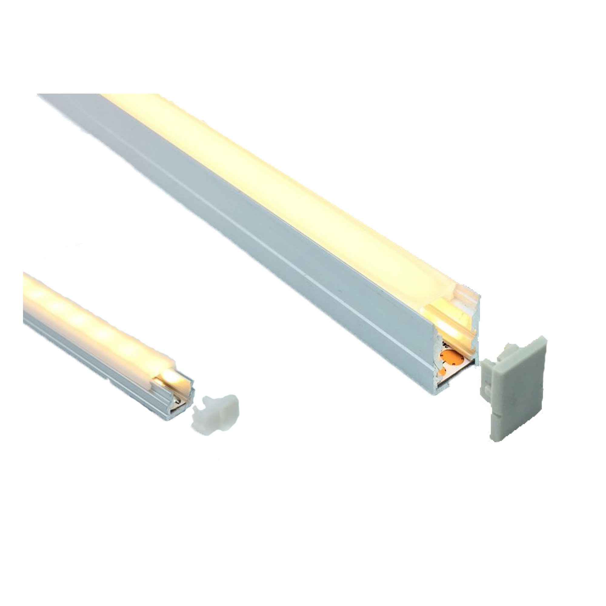 LED profile 10 x 15mm Opal Diffuser Trim