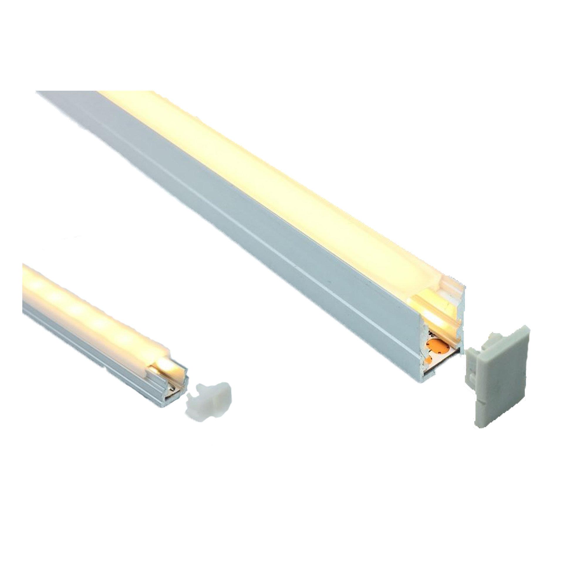 LED profile 18 x 15mm Opal Diffuser Trim
