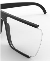 lente ultra reducida con índice 1.7