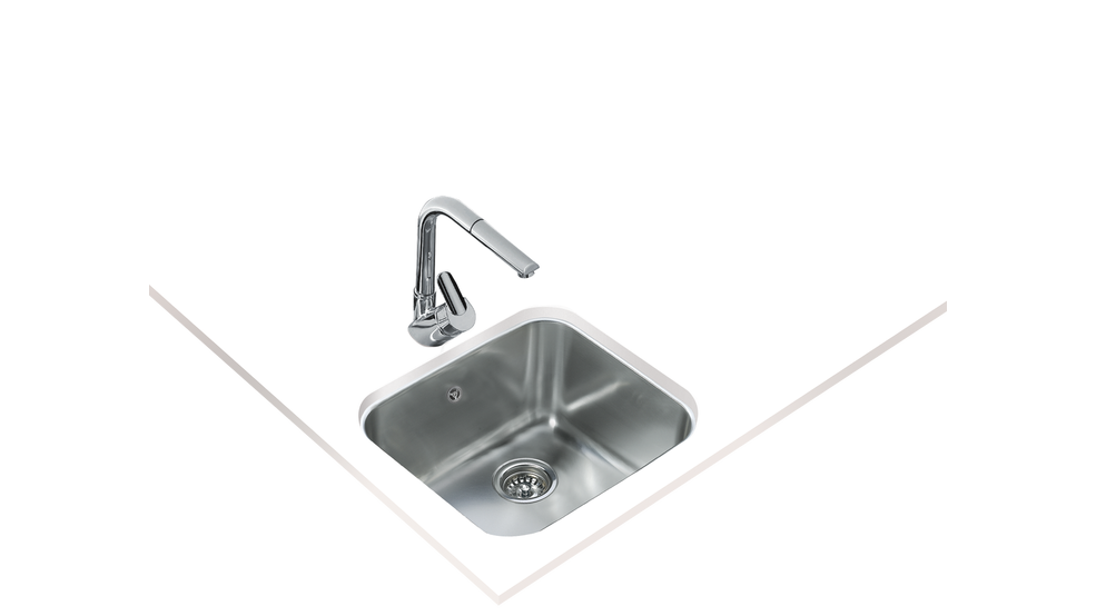 View 1 of sink BE 45.40.20 Stainless Steel by Teka