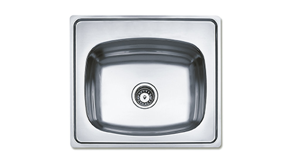 View 1 of sink 635.560 (25.22) 1B 7 Stainless Steel by Teka