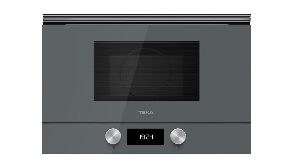 View 1 of microwave ML 8220 BIS L Stone Grey Glass by Teka