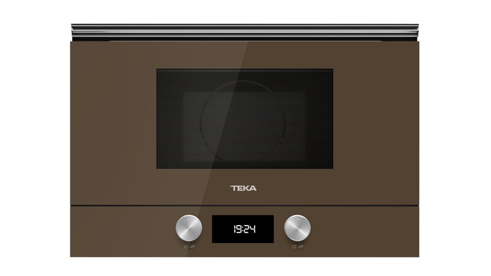 View 1 of microwave ML 8220 BIS L London brick brown glass by Teka