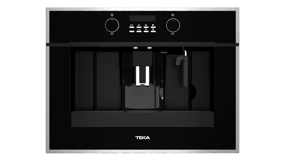 View 1 of coffee machine CLC 855 GM Black Glass with StainlessSteel frame by Teka
