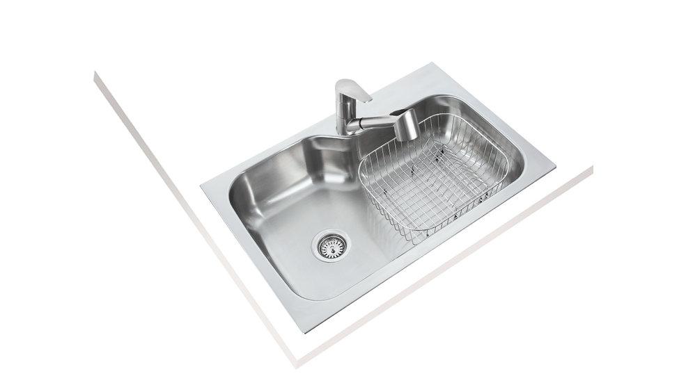 View 1 of sink DM 840.560 (33.22) 1B by Teka