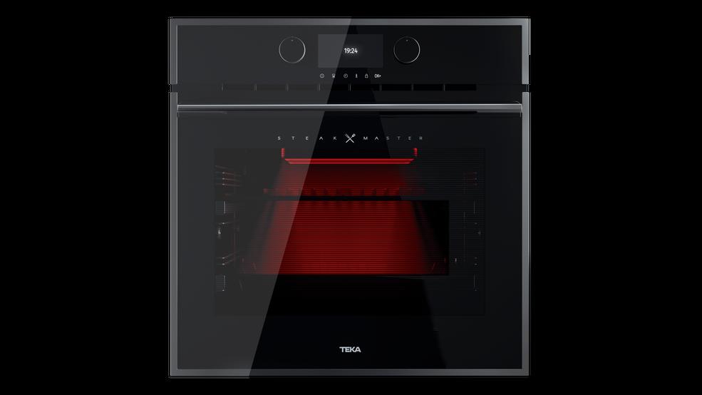 Imagen 1 de horno SteakMaster Cristal negro con marco de Teka