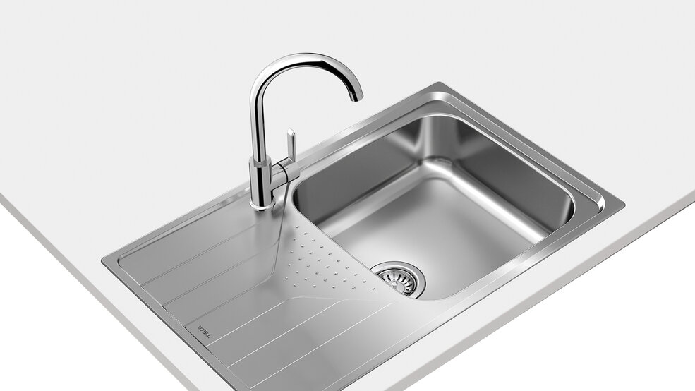 View 1 of sink Universe 50 T-XP 1B 1D Max Stainless Steel by Teka