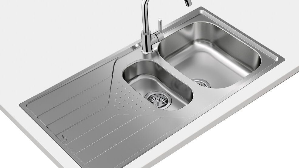 View 1 of sink Universe 60 T-XP 1½B 1D Stainless Steel by Teka