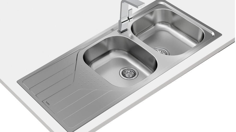 View 1 of sink Universe 80 T-XP 2B 1D Stainless Steel by Teka