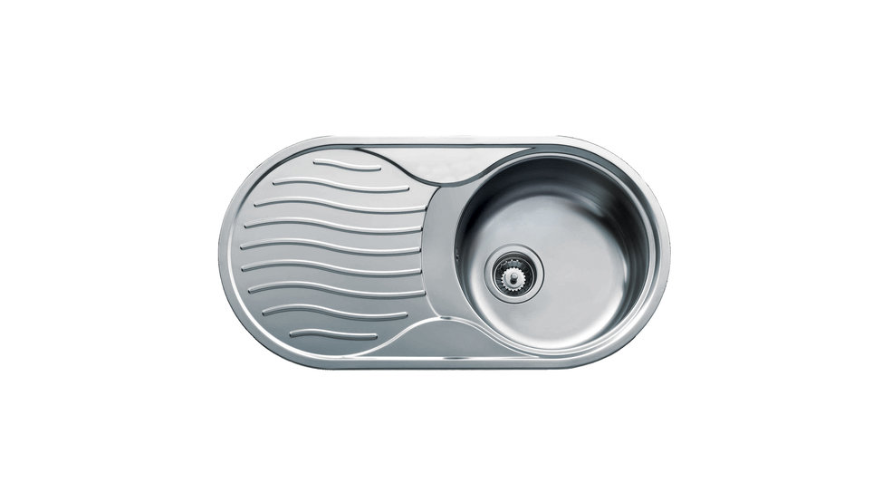 View 1 of sink DR 80 1B 1D Stainless Steel by Teka