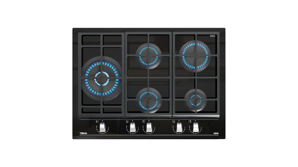 View 1 of hob GZC 85320 Black Glass by Teka