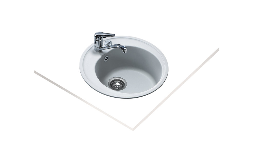 View 1 of sink Centroval RB 1B Alugraumetallic by Teka