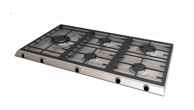 Tables de cuisson avec grilles fontes
