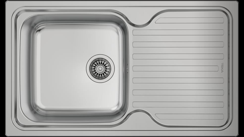 Imagen 1 de fregadero CLASSIC 1C 1E Stainless Steel de Teka