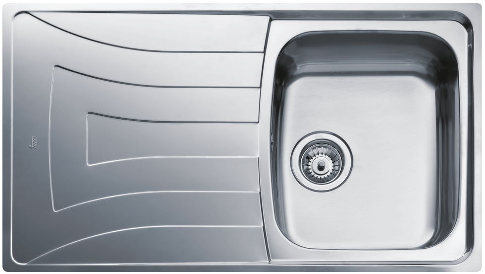 View 1 of sink UNIVERSO 86 1B 1D Polished by Teka