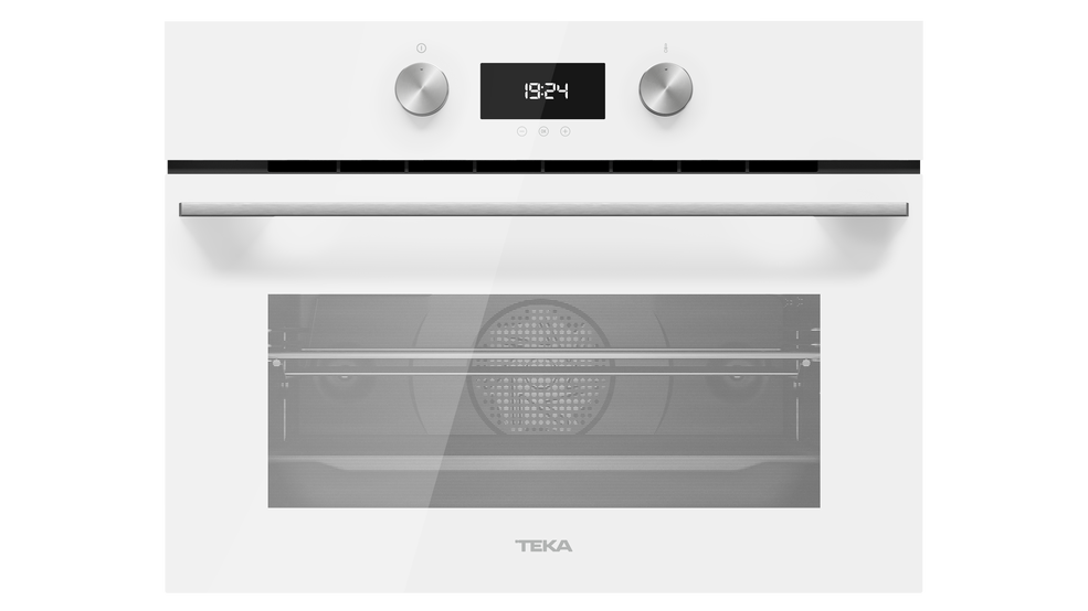 View 1 of Combi HLC 8400 White Glass by Teka