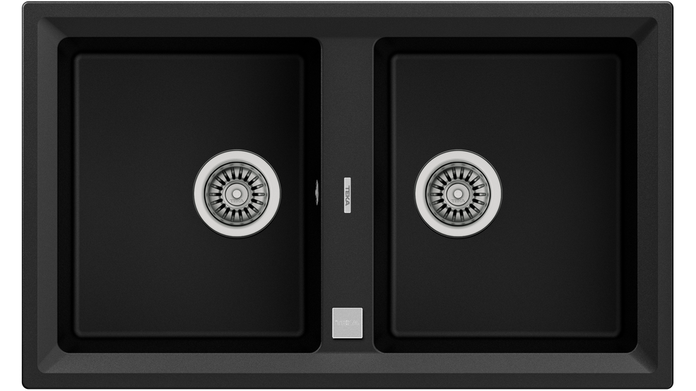 View 1 of sink STONE 90 B-TG 2B AUTO Carbon by Teka