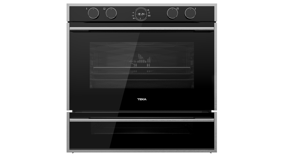 View 1 of oven DoubleCook HLD 45.15 Black Glass with StainlessSteel frame by Teka