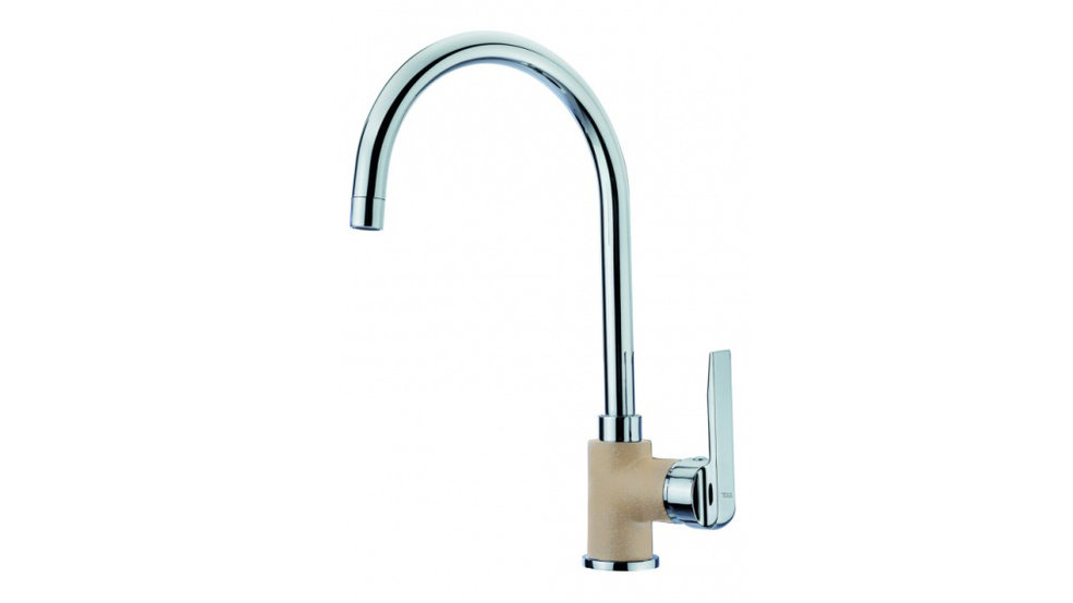 View 1 of sink tap IN 995 Sandbeige by Teka