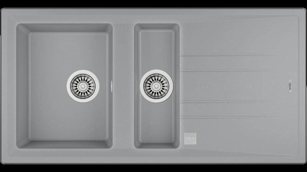 View 1 of sink STONE 60 B-TG 1½B 1D Metallic Grey by Teka