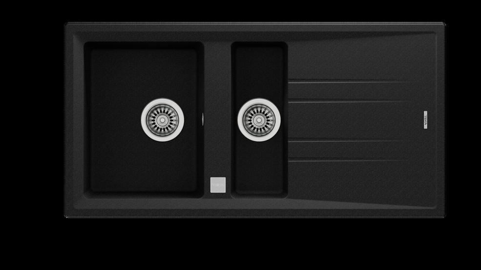 View 1 of sink STONE 60 B-TG 1½B 1D Metallic Black by Teka