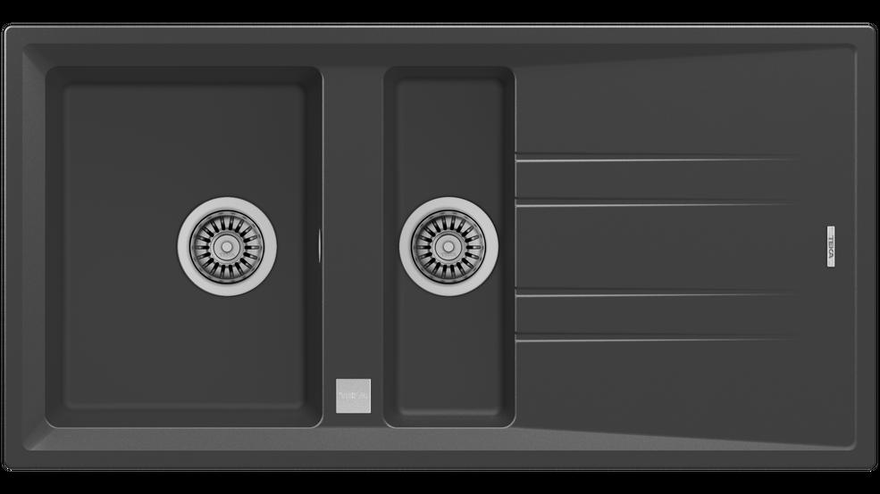 View 1 of sink Stone 60 B-TG 1½B 1D Auto Dark Grey by Teka