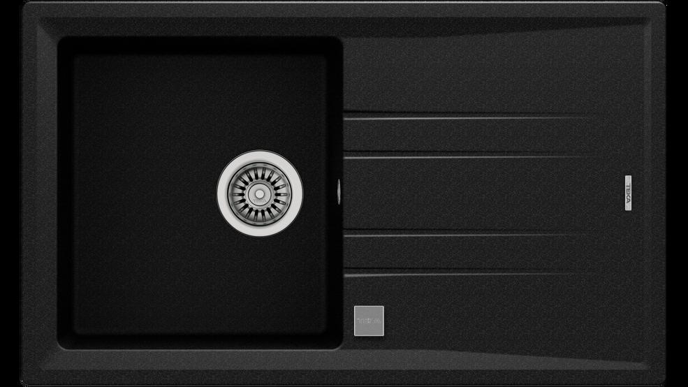 View 1 of sink STONE 50 B-TG 1B 1D AUTO Metallic Black by Teka