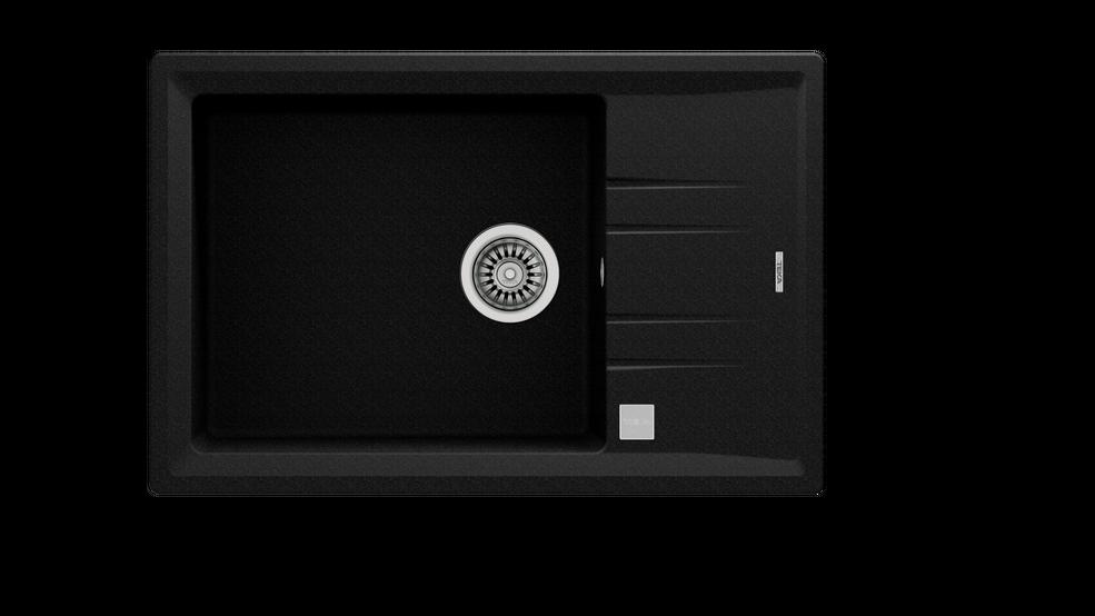 View 1 of sink STONE 60 S-TG 1B 1D AUTO Metallic Black by Teka