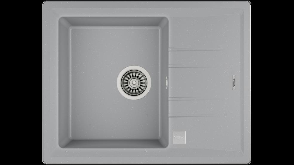 View 1 of sink STONE 45 S-TG 1B 1D  AUTO Metallic Grey by Teka
