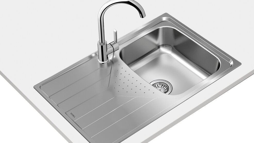 View 1 of sink UNIVERSE 45 T-XP 1B 1D Stainless Steel by Teka