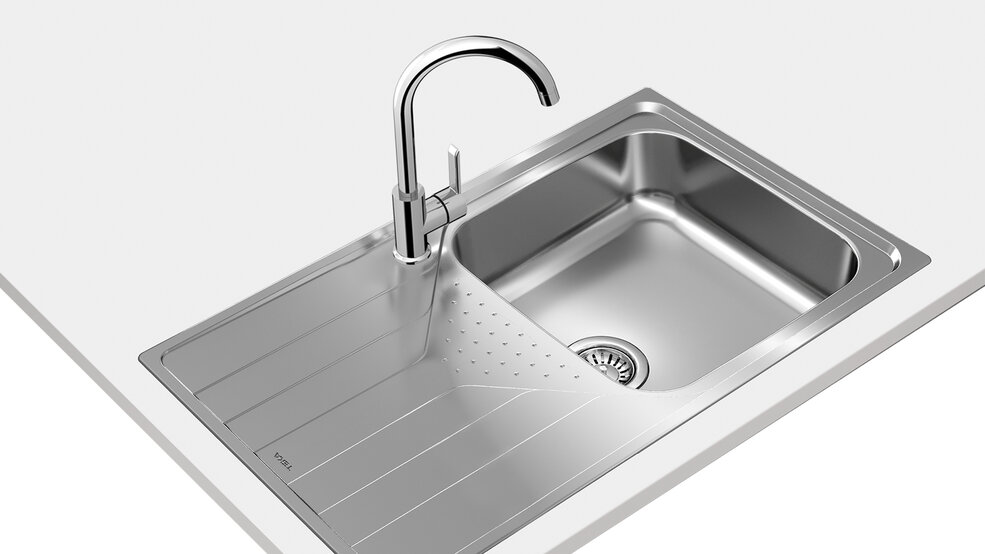 View 1 of sink UNIVERSE 50 T-XP 1B 1D PLUS Stainless Steel by Teka