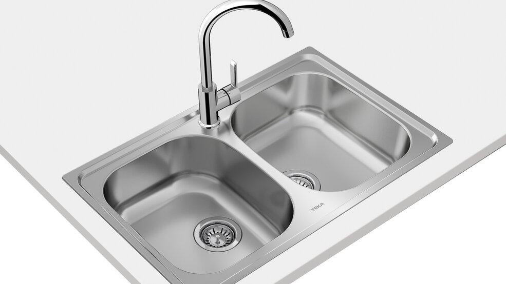 View 1 of sink Universe 80 T-XP 2B Stainless Steel by Teka