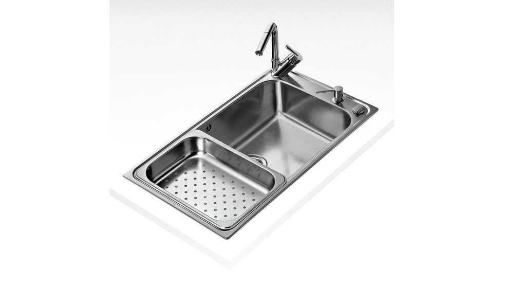 View 1 of sink BAHIA 1B PLUS Stainless Steel by Teka