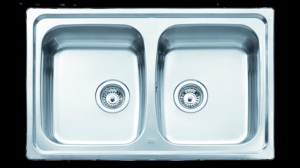 View 1 of sink Basico 79 2B Matt chrome by Teka