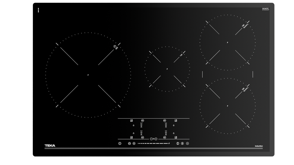 Imagen 1 de placa IR 8430 Black Glass de Teka