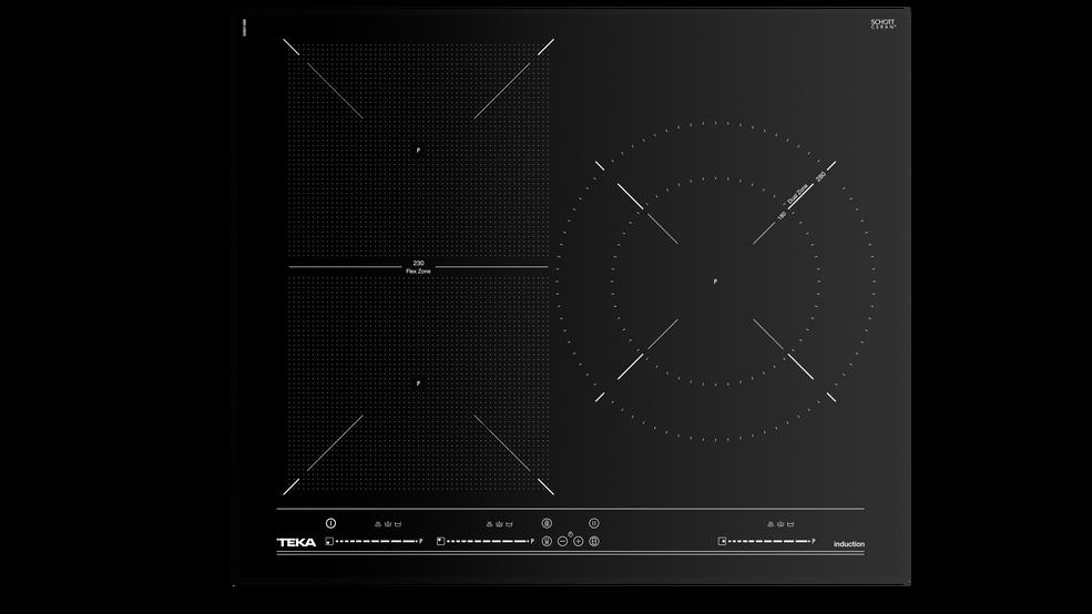 View 1 of hob ITF 6320 Black Glass by Teka
