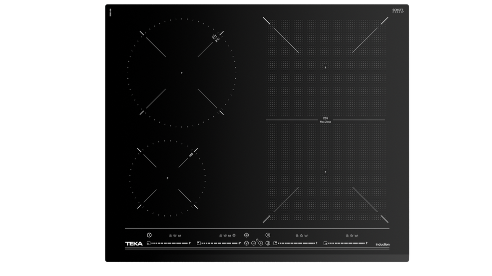 Imagen 1 de placa SPACE IZF 6420 Black Glass de Teka