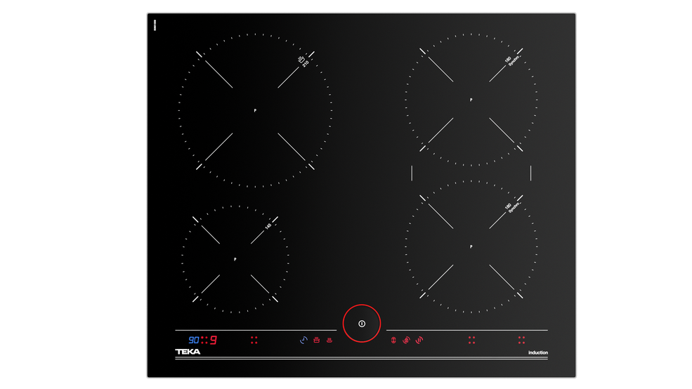 iKnob Touch Control induction hob with 5 cooking zones in 60 cm