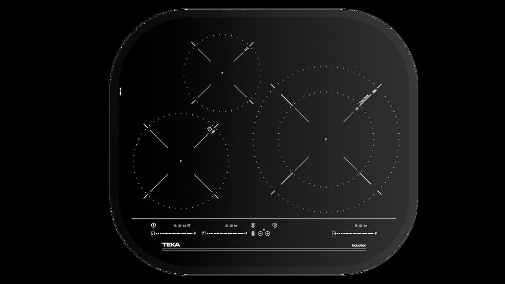 Imagen 1 de placa IRC 6320 Black Glass de Teka