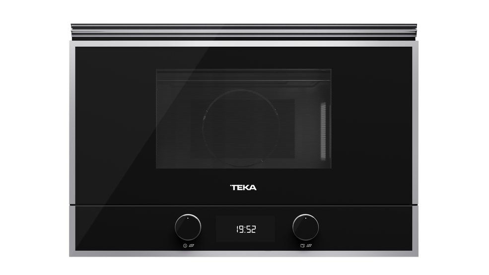 View 1 of microwave ML 822 BIS R Black Glass with StainlessSteel frame by Teka