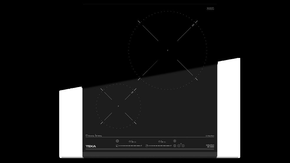 Imagen 1 de placa IZC 42300 Black Glass de Teka