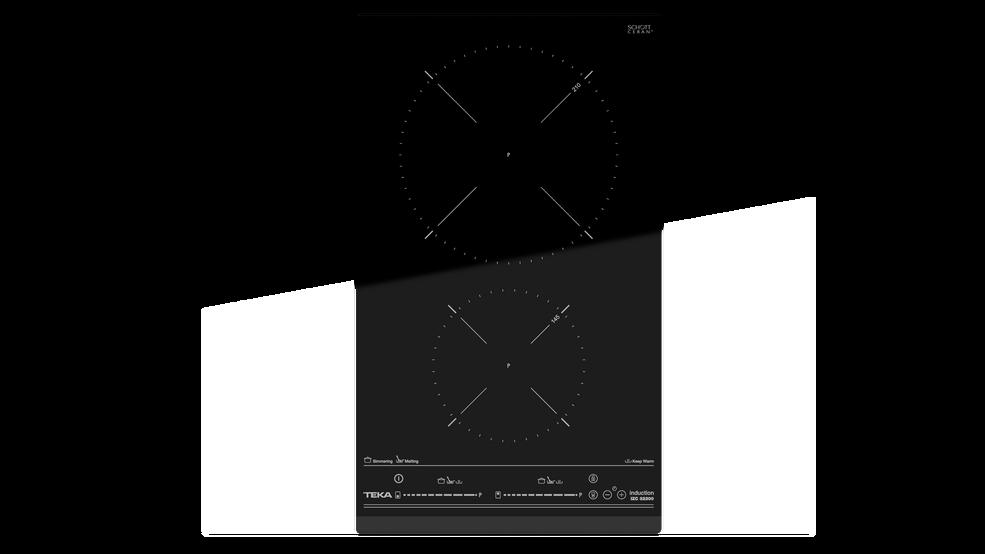 Imagen 1 de placa IZC 32300 Black Glass de Teka