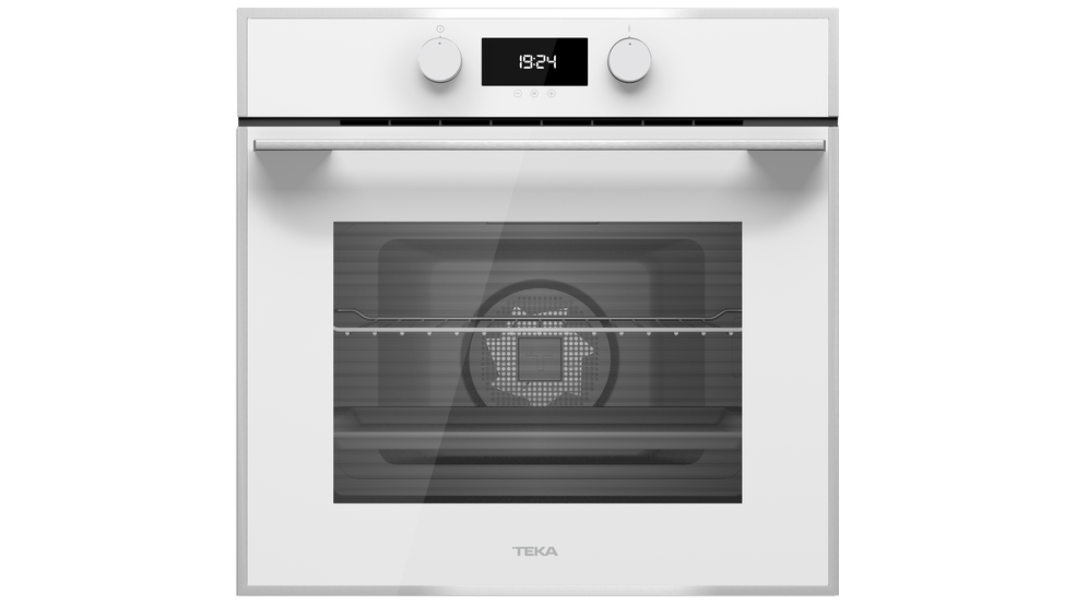 View 1 of oven HLB 840 White Glass with StainlessSteel frame by Teka