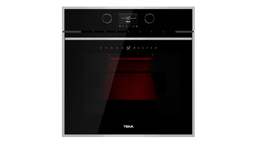 View 1 of oven STEAKMASTER Black Glass with StainlessSteel frame by Teka