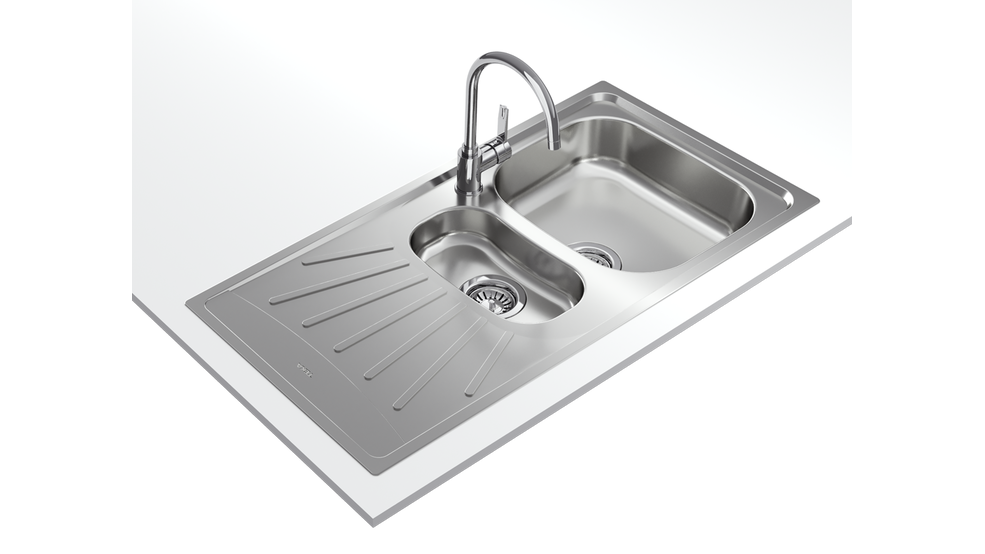 View 1 of sink STARBRIGHT 60 E-XP 1½B 1D Stainless Steel by Teka