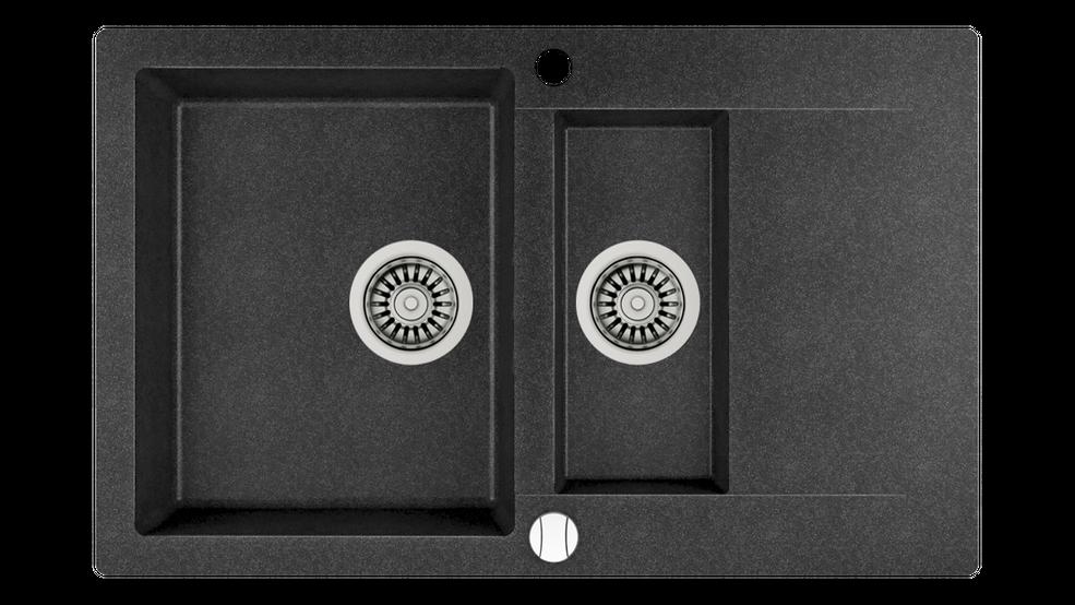 View 1 of sink Clivo 60 B-TQ 1½B 1D Auto Onyx black by Teka